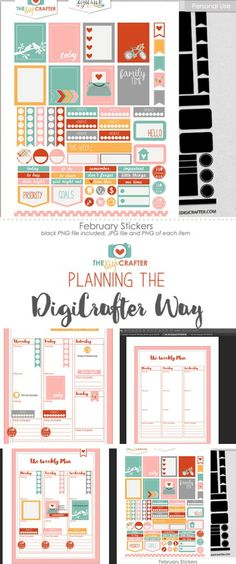 Planner Page Templates Prepossessing Customizable Planner Page Templatesstudio Kitsch On .