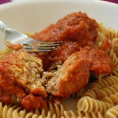 Heart-Healthy Meatballs  Great turkey meatball recipe, but I'd make the carbs more complex, save calories, and make it gluten free by using spaghetti squash instead of whole wheat pasta. Also, clean it up by making your own pasta sauce! I'll have to post my next homemade pasta sauce :)