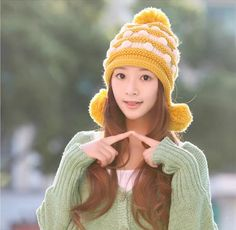 Fashion Winter Hedging Cap Scarf Suit Knit Hats - Pink on Luulla Crochet Hooded Scarf, Knitted Hats, Crochet Hats, Cute Fashion, Womens Fashion, Scarf Hat, Beanie, Winter Hats, Woman Clothing