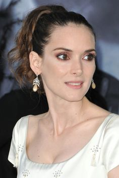 Winona Ryder Hot Topless Sexy Bikini Feet Pictures Young Age Short Hair Pearl Earrings, Pearls, Jewelry, Fashion, Moda, Pearl Studs, Jewlery, Jewerly, Fashion Styles