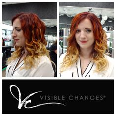 A fiery look with ombre! Salons, Change, Hair, Whoville Hair, Lounges, Strengthen Hair