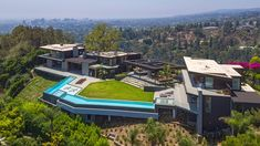 This Newly Built Modern Contemporary Style Mansion Is Located at 1520 Gilcrest Dr, Beverly Hills, California, It Features Six Bedrooms, 10 Bathrooms and Youtubers, Beverly Hills Mansion, Luxury Homes Dream Houses, Dream Homes, Villa, Property Design, Modern Mansion, California Homes, Luxury Home Decor