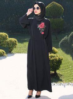 525e6105b14 2017 Adult Casual embroidery flower Robe Musulmane Turkish fashion Abaya  Muslim Dress Cardigan Robes Arab Worship