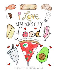 #ColoringBook -  I Love New York City Food PDF by LadyLucasStore, $3.95 Don't miss this popular digital download perfect for all ages!