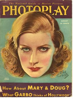 PHOTOPLAY GRETA GARBO ON COVER AUGUST 1930