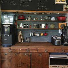 Kitchen,DIY,インスタ→kyosuenaga,キッチン収納,オープン収納,キッチンDIY,キッチンリフォーム,ゴミ箱,引き出しゴミ箱 kyosuenagaの部屋