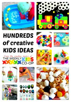 Hundreds of Creative Kids Activities from The Weekly Kids Co-Op - #kids #play #linky