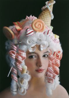 Will Cotton, Candy Curls, 2005, oil on linen, 34 x 24 inches. Courtesy of the artist and Mary Boone Gallery