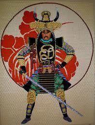 Needlepoint Samurai from Leigh Designs.
