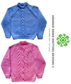 Jumper and Cardigan knitting pattern