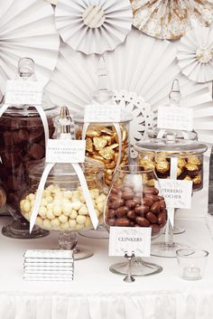Cream, Gold and Brown Chocolate buffet