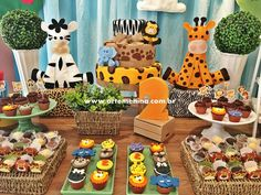 Trendy Baby Shower Themes For Boys Animals Jungle Safari Safari Theme Birthday, Wild One Birthday Party, Safari Birthday Party, Baby Boy 1st Birthday, Animal Birthday, 1st Birthday Parties, Baby Shower Decorations For Boys, Baby Shower Themes, Lion King Birthday