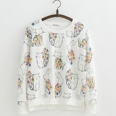 bbf099fd2754b JKKUCOCO Women Sweatshirt Long Sleeve O-neck Pullover Print Flowers Thin  Loose Casual Sweatshirts Women Cotton Hoodies S M L
