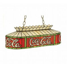 Coca-Cola Oblong Pendant | Overstock.com.....things go better with Coke!  Maybe for island lighting??