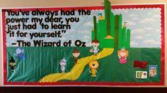 Wizard of Oz bulletin board- playing music in the corner