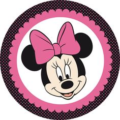Minnie Rosa Y Negro - Minnie Mouse Circle Frame Clipart - Full Size Clipart ( - PinClipart Minnie Mouse Template, Bolo Da Minnie Mouse, Minnie Mouse Stickers, Minnie Png, Mickey Minnie Mouse, Disney Mickey, Mickey Mouse Drawings, Minnie Mouse Pictures, Theme Mickey