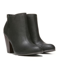 Love this FERGALICIOUS BY FERGIE Black Punch Bootie by FERGALICIOUS BY FERGIE on #zulily! #zulilyfinds