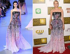 Diane Kruger In Elie Saab Couture - 2014 Critics' Choice Television Awards - Red Carpet Fashion Awards
