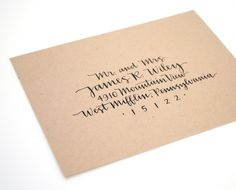 Custom Envelope Addressing . Handwritten Calligraphy . Modern Wedding . Single Sample. $4.00, via Etsy.