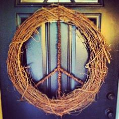 Peace Wreath decorative indoor outdoor natural by KindHush on Etsy, $60.00
