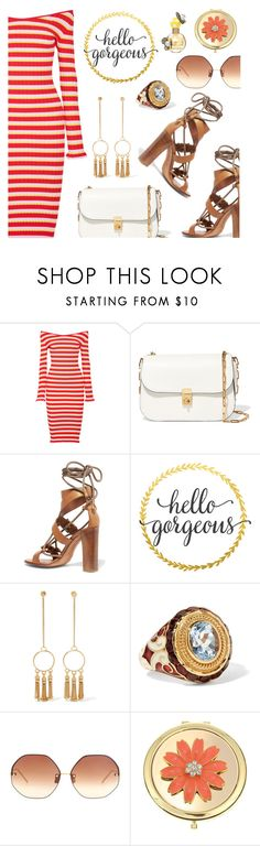 """""""Hello gorgeous!"""" by dressedbyrose ❤ liked on Polyvore featuring Altuzarra, Valentino, Etro, WALL, Chloé, Diego Percossi Papi, Linda Farrow, Liz Claiborne, Marc Jacobs and ootd"""