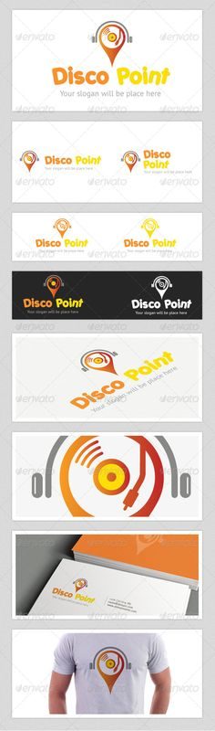 Disco Point Logo — Photoshop PSD #disc #music • Available here → https://graphicriver.net/item/disco-point-logo/4458176?ref=pxcr