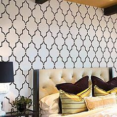 , Marrakech Trellis Wall Stencil - Large Stencils for Walls - Reusable stencils for easy DIY - Moroccan Stencil Design - Stencils for Painting , Marrakech Trellis Wall Stencil Large Stencils for Walls Large Wall Stencil, Stencil Painting On Walls, Large Stencils, Wall Stenciling, Floor Stencil, Bathroom Stencil, Tile Stencils, Paint Walls, Stenciled Floor
