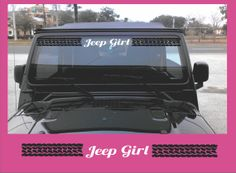 Jeep Windshield Banner Vinyl Decal Sticker by Shop317 on Etsy, $16.50