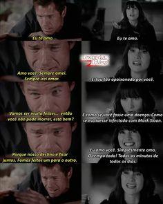 Mark Sloan, Lexie Grey, Mark E Lexie, Greys Anatomy George, Star Wars, Gray, Memes, Romantic Movie Quotes, Romantic Movie Scenes