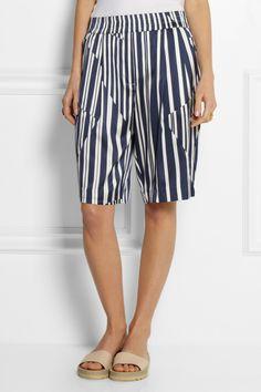 Thakoon Addition|Striped silk-blend shorts|NET-A-PORTER.COM