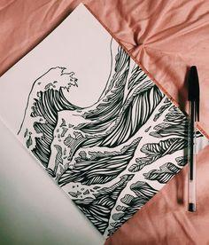Drawing Ideas - Deep Meanings Uploaded To Simple Drawings Illus . - Drawing Ideas – Deep Meanings Uploaded to Simple Drawings Illus Views Drawing Ideas – Deep - Drawing Sketches, Art Sketches, Tattoo Sketches, Art Du Croquis, Arte Sketchbook, Sketchbook Cover, Sketchbook Ideas, Pen Art, Aesthetic Art