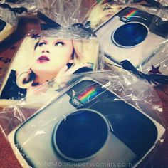 A fab party favor idea! Custom sugar cookies! #Instagram inspired all the way. They were a huge hit! WifeMomSuperwoman.com