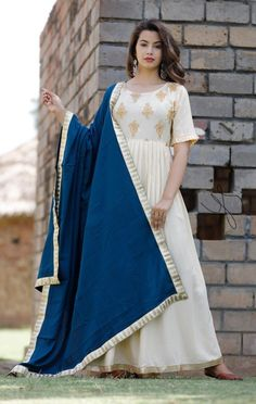 Rayan febric gown Lenth 53 Embroidery work Wid rayan febric duptta mitter Szie m to xxl Price 925 Indian Anarkali, Indian Salwar Kameez, Lengha Dress, Palazzo With Kurti, Western Gown, Yellow Saree, Flare Top, Long Tunic Tops, Indian Bollywood