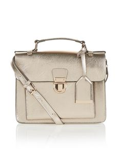 Go back to cool with our Dani satchel bag, featuring a flap-over design with a metal push-lock fastening, and a luggage tag. Store your essentials inside the. Tag Store, Revers, Hobo Handbags, Satchel Bag, Essentials, Metallic, Purses, Cool Stuff, Inspiration