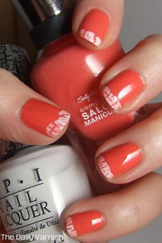 Crackle French Manicure from The Daily Varnish.- now why didnt i think of this?!?!