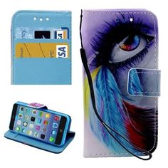 Leather Case with Holder & Card Slots & Wallet for iPhone 5 & 5s