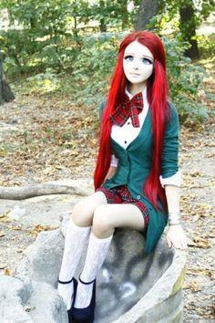 Do you know who Anastasiya Shpagina is? This anime girl literally transforms herself into an anime character with makeup and costume..