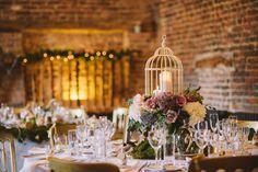Rustic raised birdcage centrepiece - wedding centrepiece - An English wedding in Merseyside by Kanashay Photography (40)