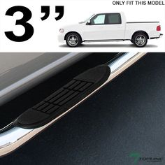 Chrome Steel Side Step Nerf Bars Running Boards Hd For   F Super Crew