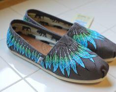 Zapatos de TOMS de buho por BStreetShoes en Etsy