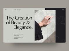 The Creation by Rron Berisha on Dribbble Website Layout, Web Layout, Layout Design, Best Web Design, App Design, Mobile Design, Minimal Website Design, Newsletter Design, Responsive Web Design