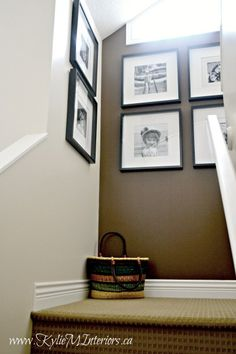 Add personality to a home or stairwell with a photo or art gallery wall