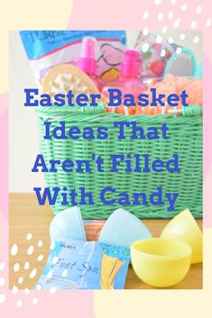 30 Themed Easter Baskets That Aren't Filled With Candy Holiday Crafts, Holiday Fun, Filled Easter Baskets, Candy Pictures, Oven Bake Clay, Dishcloth Knitting Patterns, Plastic Easter Eggs, Silly Putty, Jewelry Making Kits