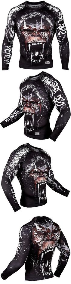 Shirts 73983: Venum Gorilla Long Sleeve Mma Compression Rashguard - Black BUY IT NOW ONLY: $59.99