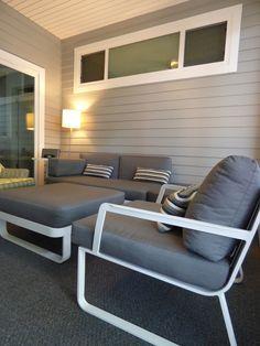 Kube Verona, contemporary outdoor furniture on our lenai.