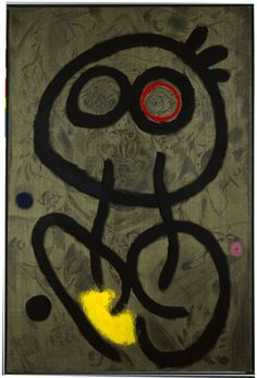 Joan Miró, Self-Portrait, 1937-1938 / February 23, 1960 Oil and pencil on canvas, 146 x 97 cm