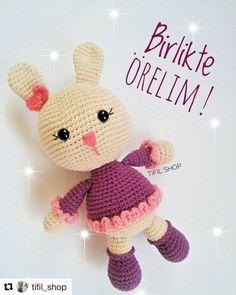 make little rabbit - Amigurami - Amigurumi Knitted Bunnies, Crochet Bunny, Knitted Dolls, Crochet Toys, Crochet Disney, Diy Crafts To Do, Cute Toys, Amigurumi Toys, Stuffed Toys Patterns