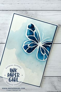Stampin' Up! Beautiful Day Butterflies with Brusho, Occasions Catalogue 2018, Katrina Duffell Independent Stampin' Up! Demonstrator Sydney Australia,
