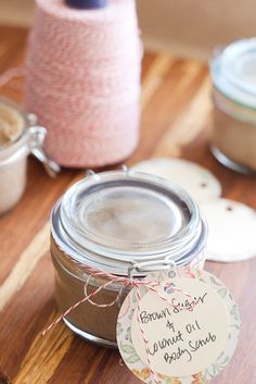 Make your own brown sugar and coconut oil scrub for a fraction of the price of store-bought!  (Just try not to eat it.)
