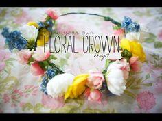 DIY Flower Crown.Headband ✿ (Coachella Inspired)